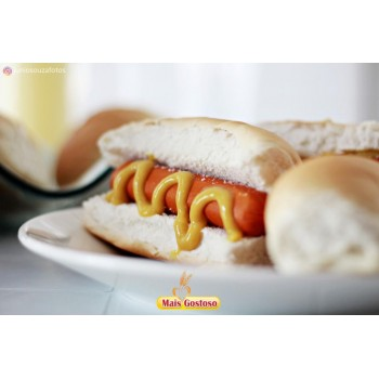 Pão para hot Dog mais  Gostoso 500 gramas
